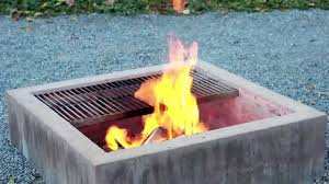 Concrete Firepit Modern Concrete Pit