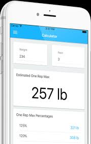 1 Rep Max Bench Press Chart One Rep Max Calculator App