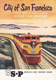 California travel by train images Original southern pacific san francisco travel poster railway jpg