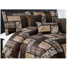 Zebra Comforter Set King Safari Cal King Comforter Set Animal Print Patchwork Bedding