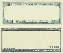 clear 100 dollar banknote pattern for design purposes stock photo