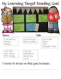 student goal setting based on learning targets growing firsties