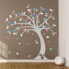 children s tree wall stickers set by oakdene designs children s tree wall stickers set