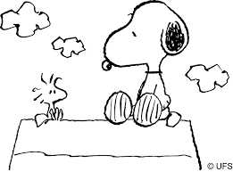 snoopy great snoopy and woodstock coloring pages coloring page