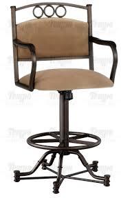 Bar Stool With Arms Furniture Winslow Swivel Tilt Bar Stool With Arms