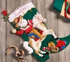 bucilla felt applique ornaments and tree
