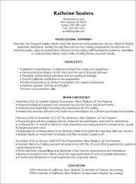 Sample Resume For Tax Accountant by Professional Tax Preparer Templates To Showcase Your Talent
