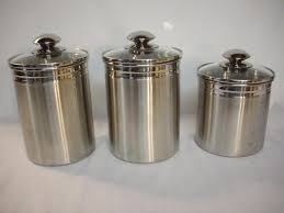 kitchen canisters stainless steel tramontina gourmet 18 10 0 8mm 3 stainless steel kitchen canister
