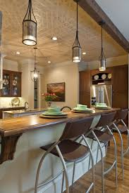 elegant kitchen pendant lighting with delightful island in
