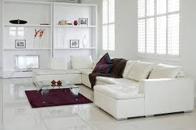 Dark Wide Plank Laminate Flooring White Living Room Walls Glossy Brown Engineered Oak Laminate