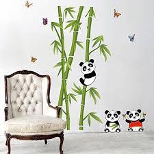 stickers panda chambre bébé sticker bambou panda sticker mural chambre enfant autocollant mural