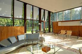 modernist house by philip johnson lists for 14 million wsj