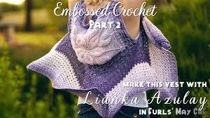 cara membuat tas rajut balon how to crochet embossed crochet part 2 embossed crochet flower