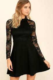 black lace dress lovely black lace dress sleeve lace dress skater dress