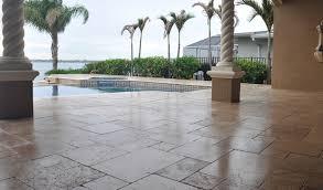 Travertine Patio Paver Pool Deck Sealing Brick Paver Travertine Sealing And