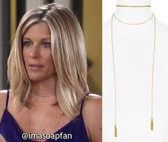 carly gh haircut carly corinthos s gold chain layered wrap necklace general