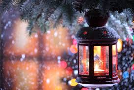 wallpaper new year candle torch branch snow winter