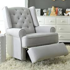 Leather Rocking Chairs For Nursery Best Chairs Finley Swivel Glider Recliner Gray Tweed Swivel Rocker