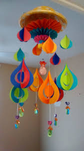 art and craft diy paper wind chime youtube