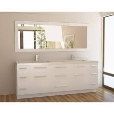 All Wood Bathroom Vanities by Open Shelf Vanity For Bathroom With Gray Wooden Pile Up Drawer