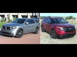 dodge durango comparison 2014 dodge durango vs 2014 ford explorer