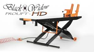 motorcycle lift table for sale black widow prolift heavy duty motorcycle lift table youtube