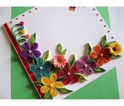 greeting cards colorful flowers border greeting card buy handmade cards online