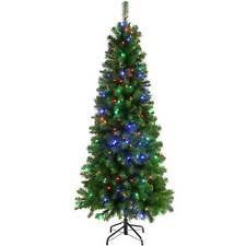 multi colour christmas pre lighted tree ebay