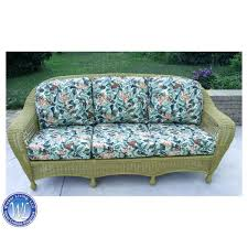 Outdoor Wicker Settee Cushions by Replacement Cushions For Deep Seating Resin Sofa