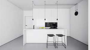 white interior kitchen designs which arranged by modern and chic decor