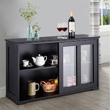 glass kitchen cabinets sliding doors kitchen storage cabinet with glass sliding door hw53867bk
