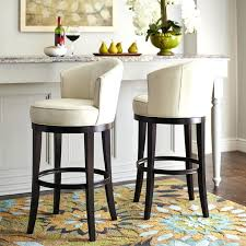 Swivel Bar Stool With Arms Bow Back Designed Swivel Bar Stool With Tapered Legs Metal Bar