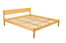 Wood Platform Bed Alto Chemical Free Wood Platform Bed Frame Oak The Futon