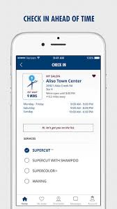 supercuts hair salon check in on the app store