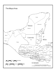 maps of the maya area