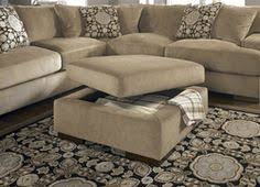 homelegance contemporary storage ottoman with four flip top tray