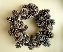 pine cone wreath crafty glittered pinecone wreath