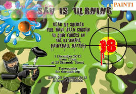 party invitations interesting paintball party invitations ideas