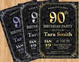90th birthday invitations template ideas