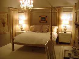 elegant small bedroom idea with high padded headboard in