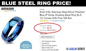 blue steel rings images Blue stainless steel ring jewelry secrets jpg