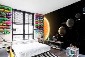 chambre a theme papier peint chambre thème espace