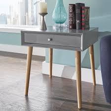 mercury row blakeney end table with storage u0026 reviews wayfair