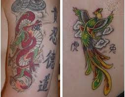 15 best japanese dragon and phoenix tattoos for women images on