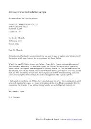 Recommendation Letter sle recommendation letter hatchurbanskriptco cover letter