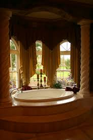 glamorous bathroom window treatment interior design window