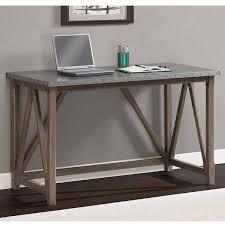 Overstock Office Desk Zinc Top Bridge Desk Brown Size Medium Desks Work Surface And
