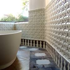 artisan terracotta tile bathrooms tabarka studio