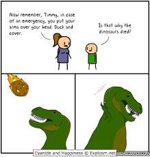 Funny Dinosaur Meme - how the dinosaurs died by ozanek meme center
