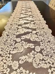 ivory lace table runner table runner lace table runner lace ivory table runner wedding